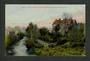 Coloured postcard of Water of Leith and the University Professor's Residence Dunedin. - 49210 - Postcard