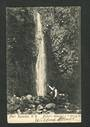 Early Undivided Postcard of Nicholls Waterfall near Dunedin. Wellington to Napier Railway Travelling Post Office Postmark - 4923