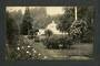 Early Undivided Real Photograph of Gardens Dunedin. - 49245 - Postcard