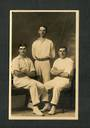 Portrait of three men by Pattillo of Dunedin. Real Photograph. - 49268 - Postcard