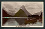 Real Photograph by A B Hurst & Son of Milford Sound. Tourist Launch in the foreground. - 49333 - Postcard