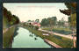 Coloured postcard by Muir and Moodie of Puni Creek and Tennis Court Invercargill. - 49394 - Postcard