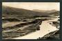 Real Photograph of Waitaki Hydro-Electric Works 11/5/1928. Site of the dam above Kurow. - 49515 - Postcard