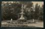 Real Photograph by Tanner Bros of the Fountain, Gardens, Oamaru. - 49523 - Postcard