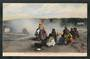 Coloured postcard of Maoris cooking breakfast in Hot Springs Whakarewarewa. - 49562 - Postcard