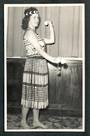 Real Photograph by N S Seaward of Maori Girl Poi Dance. - 49585 - Postcard