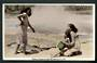 Real Photograph by A B Hurst & Son of Cooking Kumara in Hot Pool Rotorua. - 49595 - Postcard