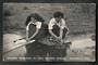 Real Photograph by Marsh. Maoris Washing in Hot Water Spring. - 49636 - Postcard