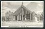 Real Photograph by N S Seaward of Maori Meetinghouse Rotorua. - 49639 - Postcard