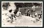 Real Photograph by A B Hurst & Son of Washing day at Whaka, Rotorua. 1950s postcard. #6841. - 49660 - Postcard