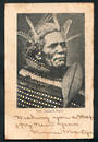 Early Undivided Postcard posted 1903 of New Zealand Maori. - 49673 - Postcard