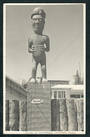 Real Photograph by N S Seaward of Maori Woodcarving Rotorua. - 49676 - Postcard