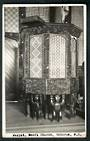 Real Photograph by N S Seaward of Pulpit Maori Church Ohinemutu. - 49686 - Postcard