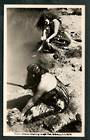 Real Photograph of Maori Women washing in hot pool Rotorua. - 49695 - Postcard