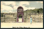Tinted Postcard by N S Seaward of the Reserve gate Whakarewarewa. - 49697 - Postcard