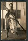 Real Photograph by Radcliffe of Maori Warrior. - 49734 - Postcard