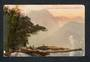 Coloured postcard of Clan Renny Peaks from Harrison's Cove Milford Sound. - 49828 - Postcard