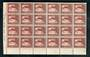 NEW ZEALAND 1935 Pictorial 1½d Brown. Corner block of 24. A few age marks on the back but still very tidy. - 50003 - UHM