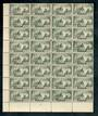 NEW ZEALAND 1935 Pictorial 2/- in block of 32. Plate 1. Multiple watermark. Perf 12½. One poor corner. - 50010 - MNG