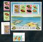 GILBERT & ELLICE ISLANDS 1975 Cowrie Shells. Set of 4 and miniature sheet. - 50052 - UHM