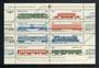 RUSSIA 1985 Railway Locomotives and Rolling Stock. Sheetlet of 8. - 50107 - UHM