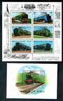GRENADA Grenadines 1996 Trains of the World. Sheetlet of 6 and miniature sheet. - 50123 - UHM