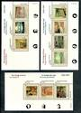 CANADA 1995 75th Anniversary of the Group of Seven. Set of 3 miniature sheets - 50134 - UHM