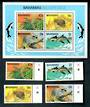 BAHAMAS 1982 Wildlife. Second series. Set of 4 and miniature sheet. - 50138 - UHM