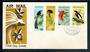 PAPUA NEW GUINEA 1973 Birds of Paradise. Set of 4 on first day cover. - 50154 - FDC