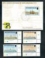 ASCENSION 1999 Ships. Set of 4 and miniature sheet. HMS Endeavour. - 50155 - CTO