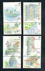 SINGAPORE 1991 National Monuments. Set of 8 in joined pairs. - 50161 - UHM