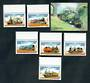 CAMBODIA 1997 Trains. Set of 6 and miniature sheet. - 50170 - UHM