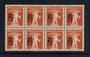 SWITZERLAND 1921 Definitive Surcharge 2½c on 3c Orange-Brown. Block of 8. - 50178 - UHM