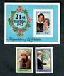 LIBERIA 1982 Birth of Prince William of Wales. Set of 2 and miniature sheet. Imperforate. - 50210 - UHM