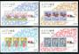 JAPAN 1991 Cinderellas issued for the Phila Nippon '91 International Philatelic Exhibition. Four miniature sheets. - 50211 - UHM