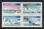 CHILE 1986 Polar Fauna. Block of 4. - 50235 - UHM