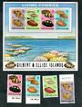 GILBERT & ELLICE ISLANDS 1975 Cowrie Shells. Set of 4 and miniature sheet. - 50290 - VFU