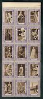 GREAT BRITAIN 1937 Coronation Labels. Block of 15. - 50309 - UHM