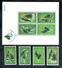 THAILAND 1996 Birds. Set of 4 and miniature sheet. - 50312 - UHM