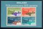 MALAWI 1965 50th Anniversary of the 1915 Uprising. Miniature sheet. - 50329 - UHM