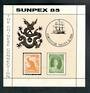 AUSTRALIA 1985 Sunpex '85 International Stamp Exhibition. Miniature sheet. - 50336 - UHM