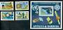 ANTIGUA & BARBUDA 1983 World Communications Year. Set of 4 and miniature sheet. - 50401 - UHM