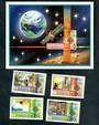 DOMINICA 1983 World Communications Year. Set of 4 and miniature sheet. - 50407 - UHM