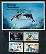 GRENADA Grenadines 1983 World Communications Year. Set of 4 and miniature sheet. - 50409 - UHM