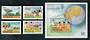MALDIVE ISLANDS 1983 World Communications Year. Set of 4 and miniature sheet. - 50410 - UHM