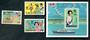 KIRIBATI 1982 Royal Visit. Set of 3 and miniature sheet. - 50427 - UHM