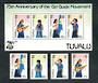 TUVALU 1985 75th Anniversary of the Girl Guide Movement. Set of 4 and miniature sheet. - 50457 - UHM