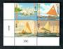 MARSHALL ISLANDS 1997 Traditional Outrigger Canoes. Block of 4. - 50459 - UHM