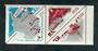 RUSSIA 1966 Tenth Anniversary of the Soviet Antarctic Expedition. Set of 3 in the block. - 50485 - UHM