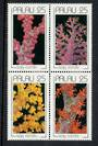 PALAU 1990 Soft Corals. Block of 4. - 50554 - UHM